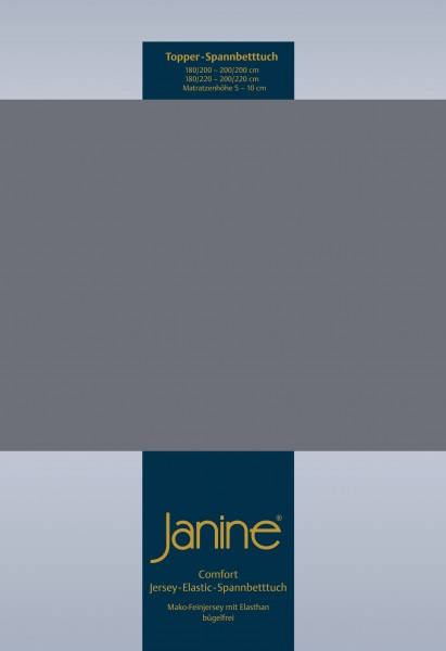 Janine Topper-Spannbetttuch 5001 (für Box-Spring Betten) opalgrau