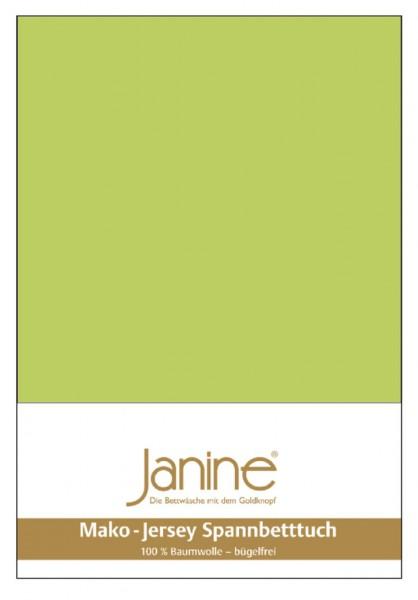 Janine Spannbetttuch Mako-Feinjersey 5007 apfelgrün