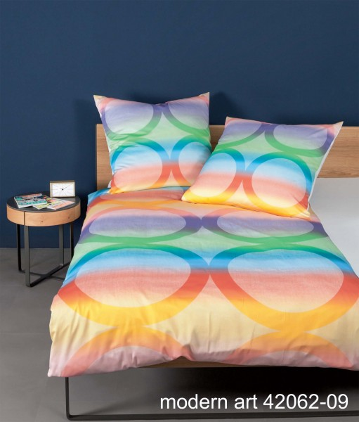 Janine Mako-Satin-Bettwäsche modern art 42062 multicolor