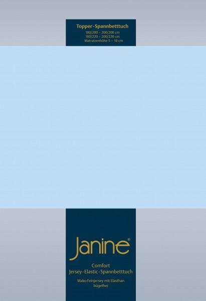 Janine Topper-Spannbetttuch 5001 (für Box-Spring Betten) hellblau