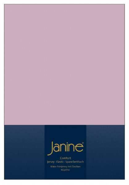 Janine Spannbetttuch Elastic-Jersey 5002 altrosé