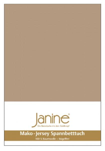 Janine Spannbetttuch Mako-Feinjersey 5007 nougat