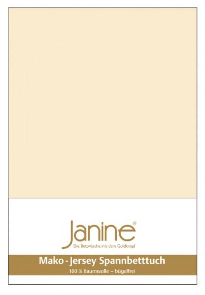 Janine Spannbetttuch Mako-Feinjersey 5007 leinen