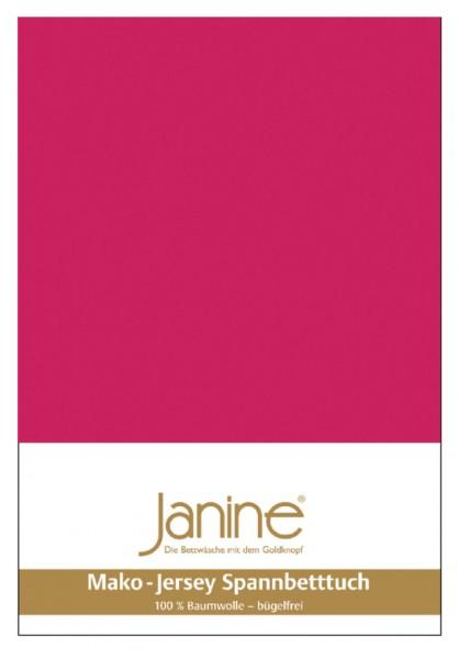Janine Spannbetttuch Mako-Feinjersey 5007 himbeer