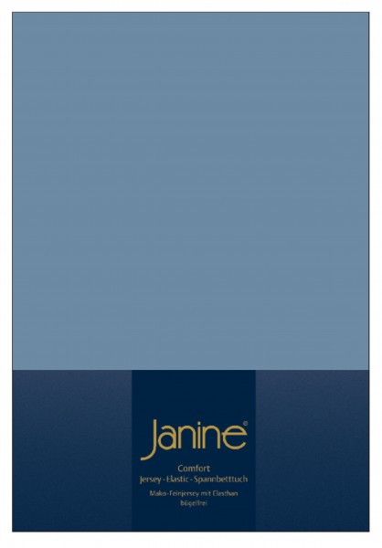 Janine Spannbetttuch Elastic-Jersey 5002 denimblau