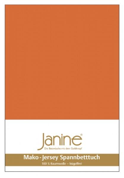 Janine Spannbetttuch Mako-Feinjersey 5007 rost-orange
