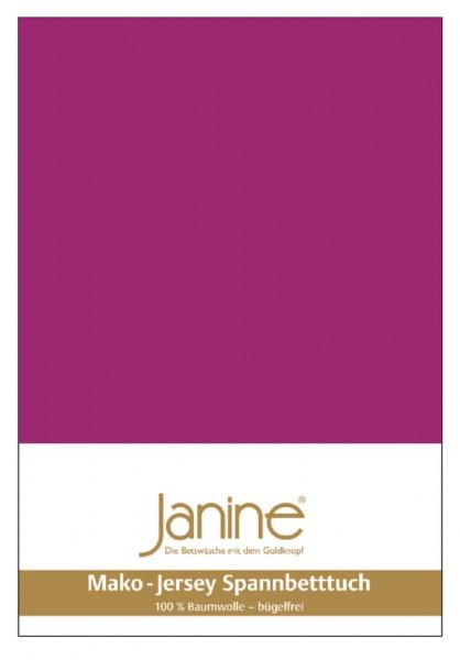 Janine Spannbetttuch Mako-Feinjersey 5007 fuchsia