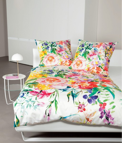 Mako-Satin-Bettwäsche modern art 42057 rosé multicolor