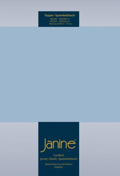 Janine Topper-Spannbetttuch 5001 (für Box-Spring Betten) perlblau