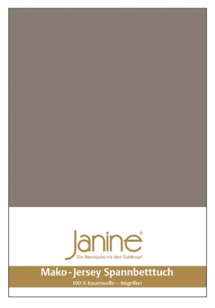 Janine Spannbetttuch Mako-Feinjersey 5007 taupe