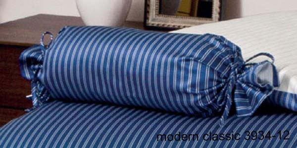 Janine Mako-Satin Nackenrolle modernclassic 3934 dunkelblau