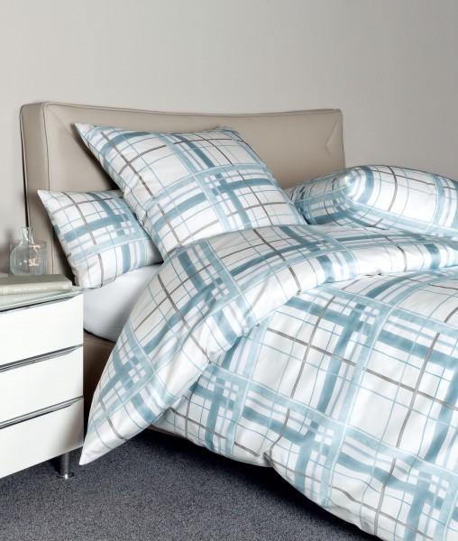 Janine Interlock-Jersey Bettwäsche CARMEN 53079 aquarellblau grau