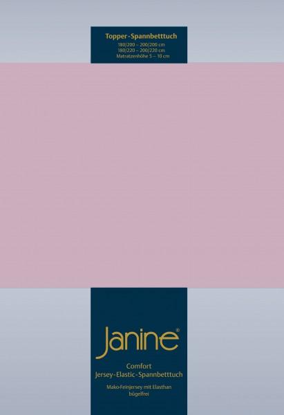 Janine Topper-Spannbetttuch 5001 (für Box-Spring Betten) altrosé