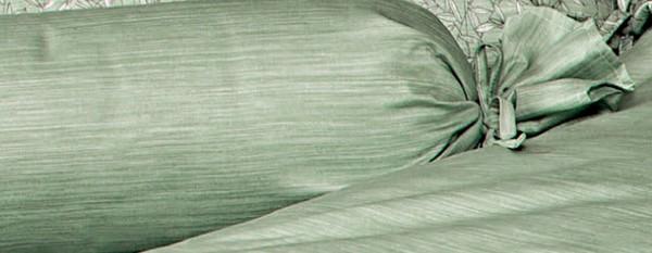 Mako-Satin Nackenrolle MESSINA 43104 rauchgrün