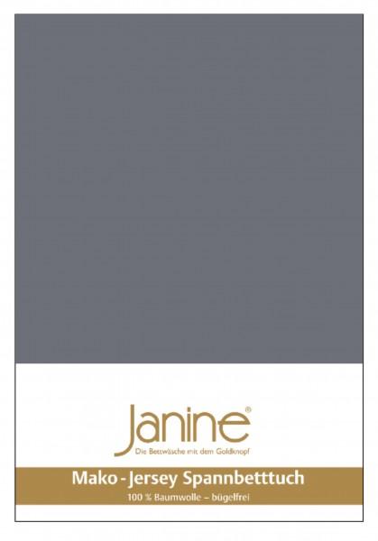 Janine Spannbetttuch Mako-Feinjersey 5007 opalgrau