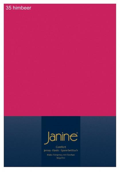 Janine Spannbetttuch Elastic-Jersey 5002 himbeer