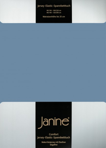 Spannbetttuch Elastic-Jersey 5002 denimblau