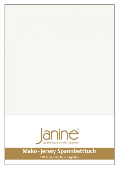 Janine Spannbetttuch Mako-Feinjersey 5007 ecru