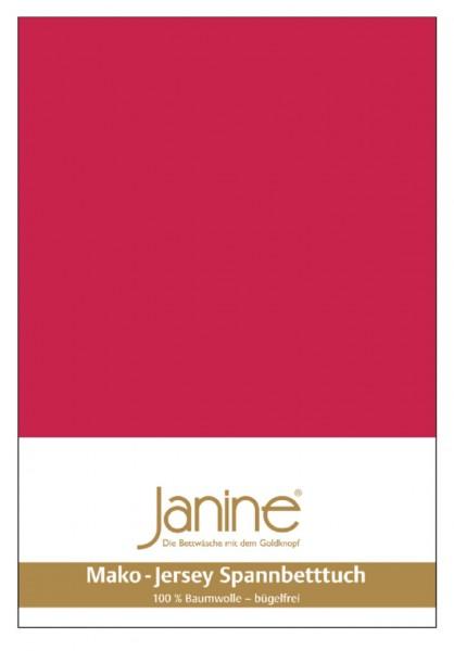 Janine Spannbetttuch Mako-Feinjersey 5007 rot