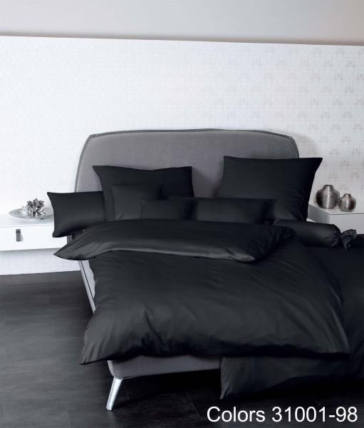 Janine Mako-Satin Bettwäsche Colors 31001 schwarz