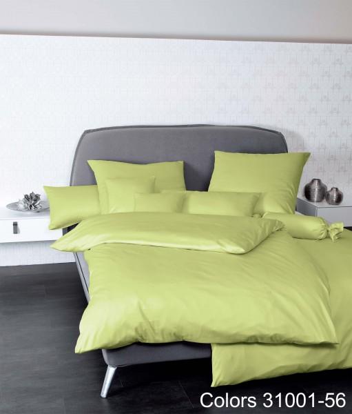 Janine Mako-Satin Bettwäsche Colors 31001 apfelgrün