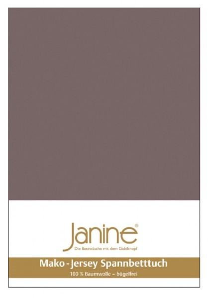Janine Spannbetttuch Mako-Feinjersey 5007 cappuccino