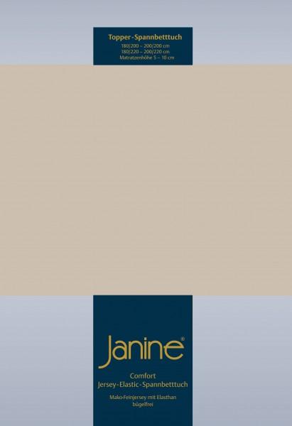 Janine Topper-Spannbetttuch 5001 (für Box-Spring Betten) naturell