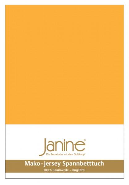 Janine Spannbetttuch Mako-Feinjersey 5007 sonnengelb
