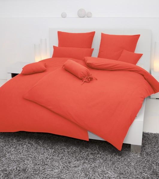 Janine Mako-Soft-Seersucker Bettwäsche PIANO 0125 orange