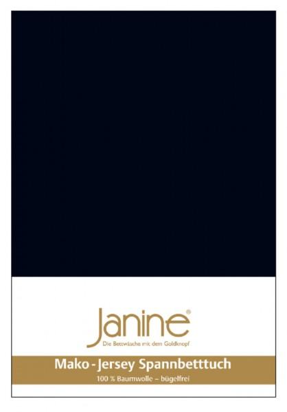 Janine Spannbetttuch Mako-Feinjersey 5007 schwarz