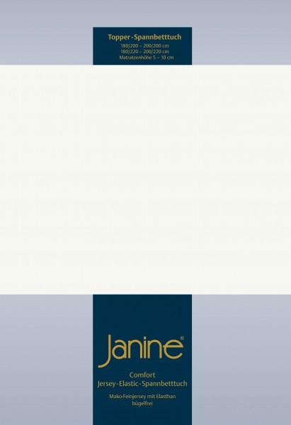 Janine Topper-Spannbetttuch 5001 (für Box-Spring Betten) ecru