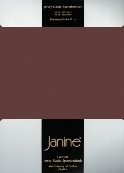 Spannbetttuch Elastic-Jersey 5002 dunkelbraun