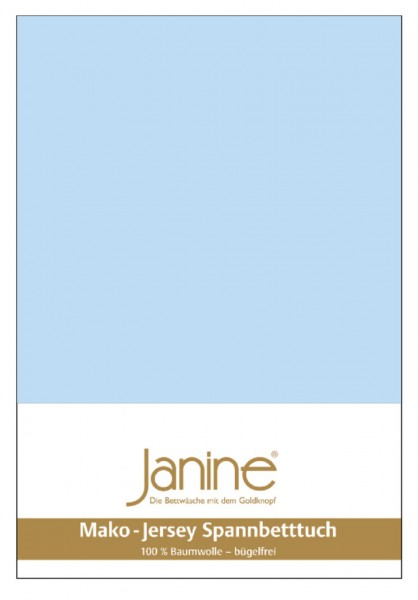Janine Spannbetttuch Mako-Feinjersey 5007 hellblau