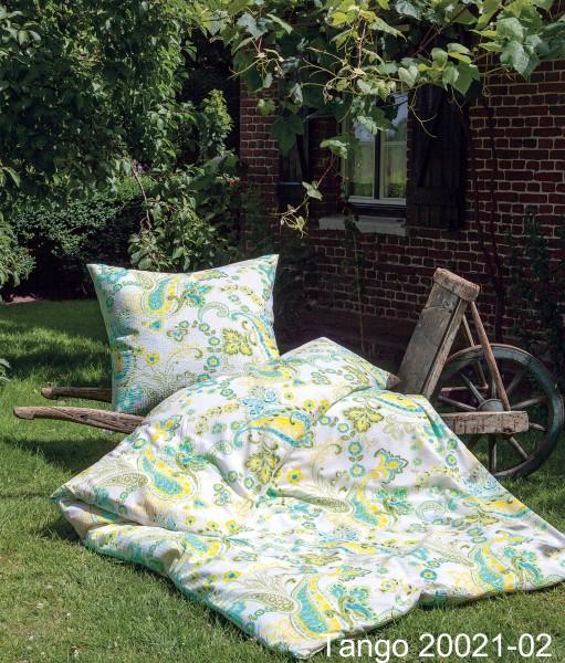 Janine Mako-Soft-Seersucker Bettwäsche TANGO 20021 / Sommerbettwäsche aqua grün