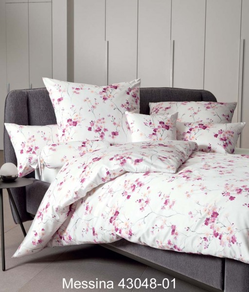 Janine Mako-Satin Bettwäsche MESSINA 43048 fuchsienrosa