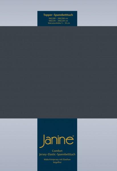 Janine Topper-Spannbetttuch 5001 (für Box-Spring Betten) titan