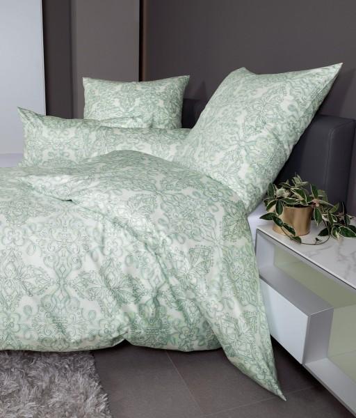 Interlock-Jersey-Bettwäsche CARMEN 53102 pastellgrün