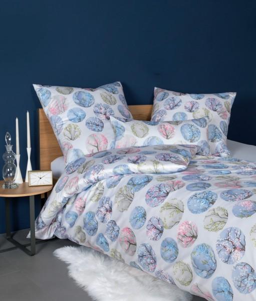 Janine Interlock-Jersey-Bettwäsche Carmen S 55025 azurblau rosa