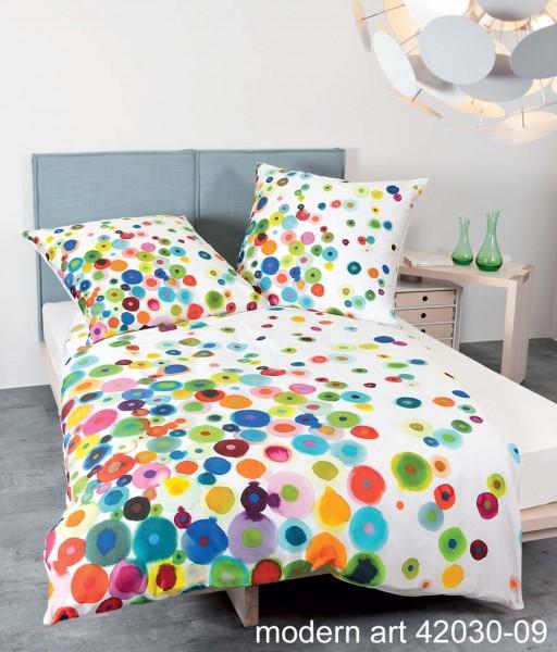 Janine Mako-Satin Bettwäsche modern art 42030 multicolor