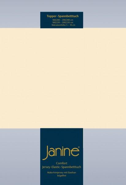 Janine Topper-Spannbetttuch 5001 (für Box-Spring Betten) leinen