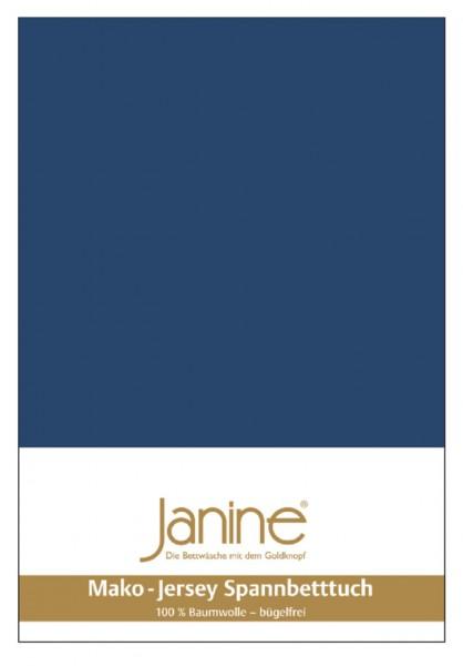 Janine Spannbetttuch Mako-Feinjersey 5007 marine