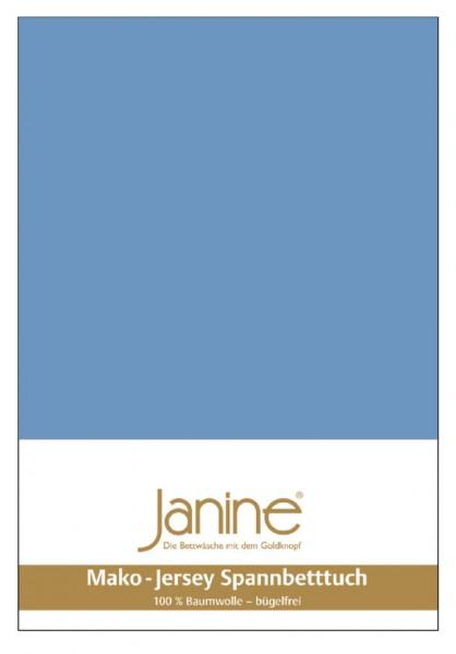 Janine Spannbetttuch Mako-Feinjersey 5007 blau