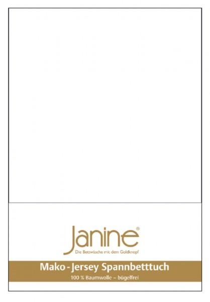 Janine Spannbetttuch Mako-Feinjersey 5007 weiß