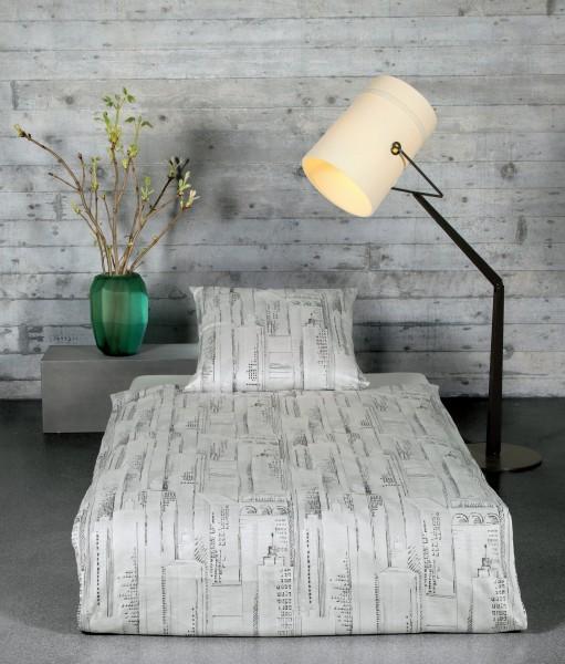 Janine Mako-Satin-Bettwäsche loft 95000 silber graphit