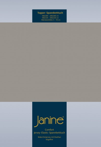 Janine Topper-Spannbetttuch 5001 (für Box-Spring Betten) vulkan