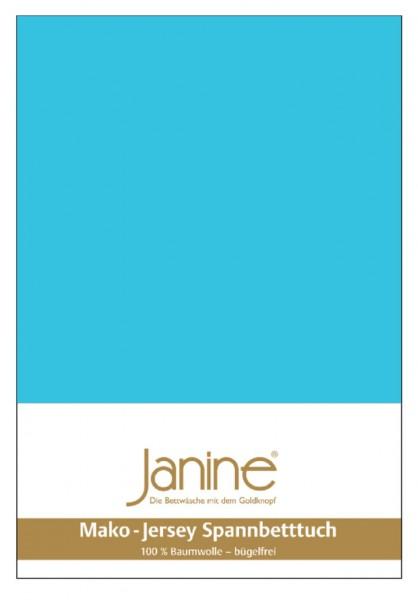 Janine Spannbetttuch Mako-Feinjersey 5007 türkis