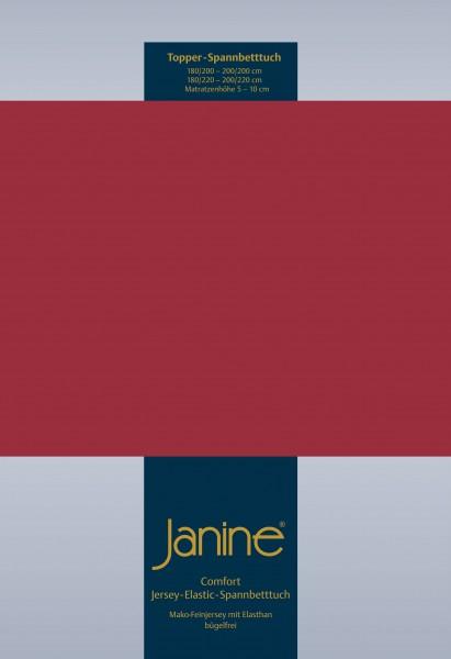 Janine Topper-Spannbetttuch 5001 (für Box-Spring Betten) granat