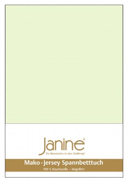 Janine Spannbetttuch Mako-Feinjersey 5007 limone