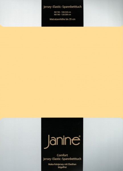 Spannbetttuch Elastic-Jersey 5002 vanille